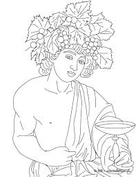 dionysus the greek god of wine coloring page mundo clásico