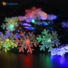 snowflake lights lumiaprty 20led solar powered led snowflake lights fairy string