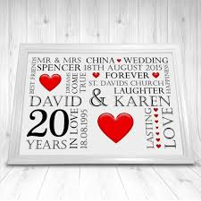 20th anniversary gift ideas wedding gift new 20th wedding anniversary gift ideas for husband