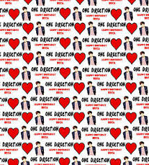 one direction wrapping paper personalised gift wrapping paper one direction louis
