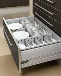 Kitchen Drawer Organizers  For A Clean And Clutterfree Décor - Kitchen cabinet plate organizers