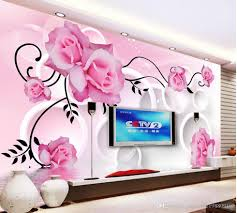 How Big Should Tv Be For Living Room Custom Any Size Living Room Rose Reflection 3d Circle Tv Wall