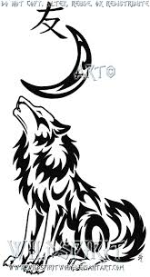 wolf moon and kanji tattoo by wildspiritwolf on deviantart