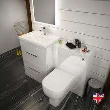 White Bathroom Furniture Patello 1200 Bathroom Furniture Set White Buy At Bathroom City