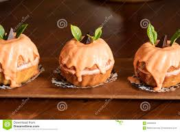 Halloween Bundt Cake Yummy Mini Pumpkin Bundt Cakes Stock Photo Image 58630828