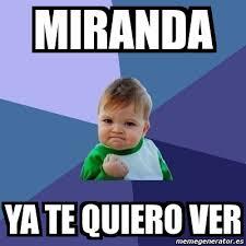 Miranda Meme - meme bebe exitoso miranda ya te quiero ver 5816762