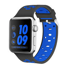 apple watch light blue soft flexible adjustable breathable hypoallergenic and nickel