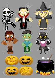 halloween character set 1 royalty free cliparts vectors and