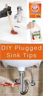 how to unclog my sink tips for clogged sinks homemade drain cleaner recipe tipnut com