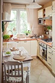 Small Home Kitchen Design Tiny Kitchen Makeover With Painted Backsplash And Wood Tile Floors