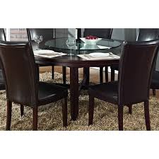 hampton dark brown cherry 72 inch round dining table by greyson