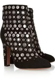 alaïastudded cutout suede ankle boots shoes boots sandals