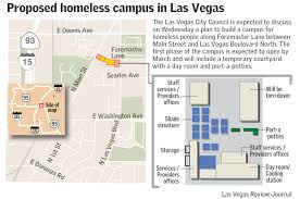 las vegas officials plan corridor of hope for homeless las proposed homeless campus