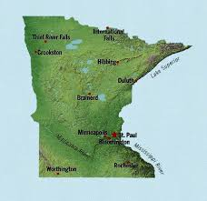 minnesota topographic map obryadii00 map of minnesota cities