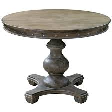 marius french country round wood silver stud dining table kathy