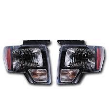 2012 f150 tail lights amazon com oem ford f 150 black headlight pair svt raptor harley