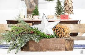 Rustic Christmas Centerpieces - woodland christmas home tour live laugh rowe