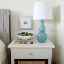 side night table for bedroom with classic white surface small