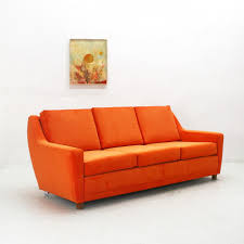 Orange Leather Swivel Chair Vintage Leather Swivel Chair 60 70s 69518