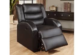 poundex f6653 black bonded leather recliner chair