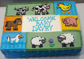 farm animal baby shower cake cake decorating community cakes