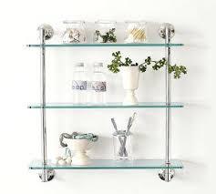restoration hardware glass shelf dillon and brass vintage shelves