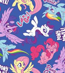 my pony wrapping paper hasbro my pony fleece fabric 59 pony power joann