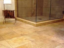 bathroom floor tile ideas modern themed with tuscan bathroom floor tile ideas made ceramic with brown color and square shape