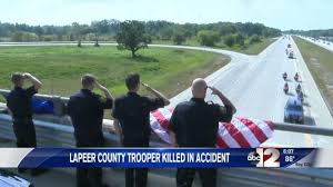 Michigan travels images Funeral arrangements announced for michigan state police trooper JPG