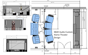 Home Theater Floor Plans Home Theater Room Design K U0026w Audio