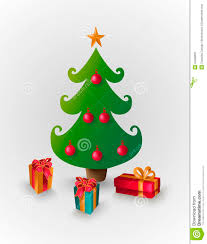 merry christmas tree with presents eps10 file stock image image
