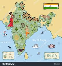Map Of India by Cartoon Vector Map India Stock Vector 376381825 Shutterstock