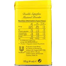 coleman s mustard colmans mustard powder 113g woolworths