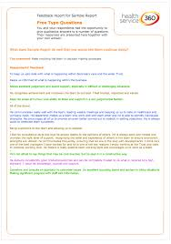 a sample report sample reports health service 360