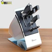 kitchen knives block kitchen knife block knives holder organizer metal rack storage block