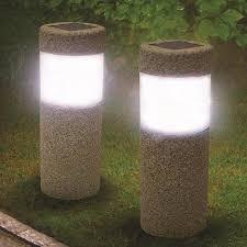 Solar Lights Outdoor Garden 1pc Solar Power Pillar W Hite Led Solar Lights Outdoor