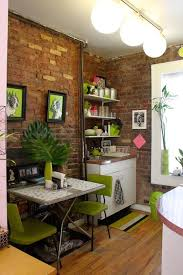 Apartment Interior Design Ideas Tiny Apartment In New York With Exposed Brick Walls