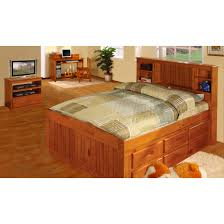 Twin Captains Bed With Drawers Two Honey Twin Captains Beds U0026 One Nightstand U0026 One Bookshelf