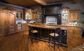 Painted Wood Floor Ideas Rustic Kitchen Floor Ideas Black Cook Top White Chimney Granite