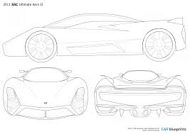 ssc ultimate aero 2011 ssc ultimate aero ii coupe blueprints free outlines