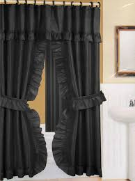 gorgeous tie back shower curtains and how to make tie back shower curtains curtain menzilperde