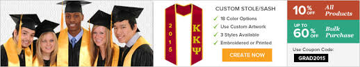 custom graduation sashes buy affordable graduation stoles gradshop
