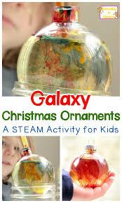 science in a bottle galaxy ornaments