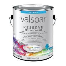 shop valspar reserve ceiling white flat latex interior paint and