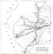 Cairo Illinois Map by Penn Central Railroad Online
