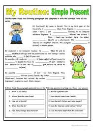 285 free esl simple present tense worksheets