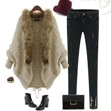 sweater with faux fur collar faux fur collar bat sleeve khaki sweater cardigan romoti