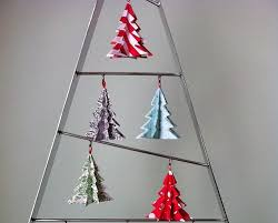 origami tree decorations lights card and decore
