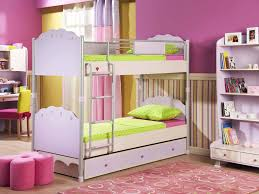 bedroom ideas beautiful pink color wood unique design kids girls