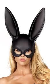 bunny mask black bunny mask